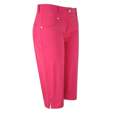 Green Lamb UV Protect Pedal Pushers with Flattering Fit in Fuchsia Pink