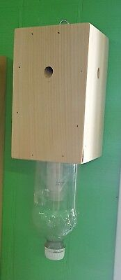 Carpenter Bee Box Trap Soda Bottle Wood Bees Xylocopa Eco Friendly Pest Control