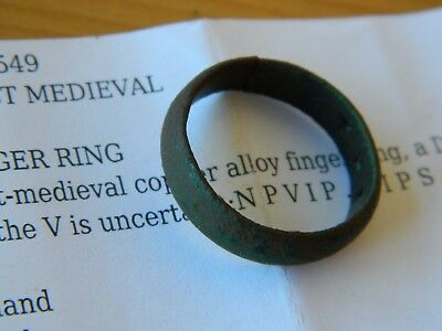 PAS Recorded Post Medieval bronze finger ring Posy Love Metal detecting detector