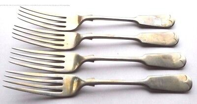 Here Are 4 Beautiful Dessert Forks - D & A Nevada Silver - 1930