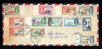 16631-CAYMAN ISLANDS-AIRMAIL COVER GEORGE TOWN (grand cayman).1960.British.