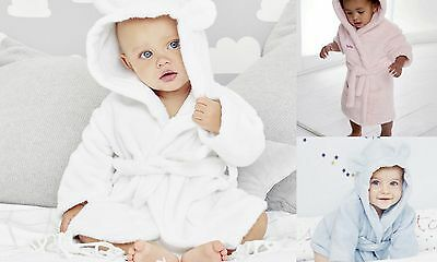 Personalised Baby Supersoft Hooded Bath Robe Sizes 0-24 Months Boys/Girls/Unisex
