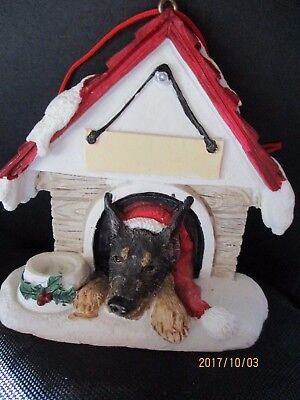 Doberman   Black   ~ Doghouse  Ornament  ~   101