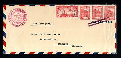 16657-REPUBLICA DOMINICA-AIRMAIL COVER BARAHONA to HAMBURG (germany) 1932.WWII