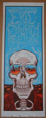 Jim Mazza Eric Church Red Rocks Morrison VIP Poster Print Signed Numbered 2016
