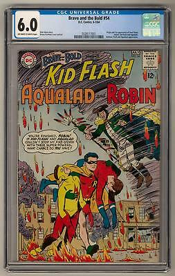 Brave and the Bold #54 CGC 6.0 (OW-W) Origin and 1st Teen Titans