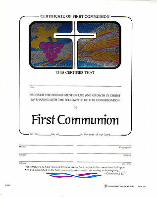 Certificate - First Communion - blank