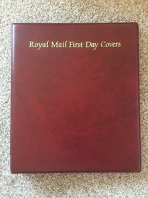 Royal Mail First Day Cover Album Red With Pages Used But Clean Buy It Now