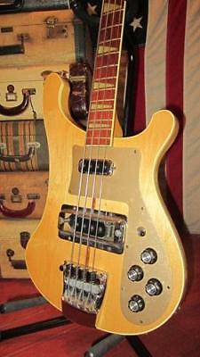 Vintage 1975 Rickenbacker Model 4001 Electric Bass Natural With Hard Case