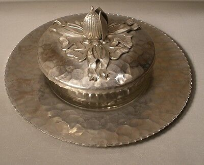 Rodney Kent Hand Wrought Aluminum Dish with Glass Insert