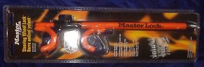 RP2262 Master Lock 4 Hook Vehicle Steering Wheel Lock 239DAT NIP