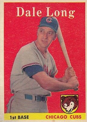 Topps 1958 #7 Dale Long-Chicago Cubs