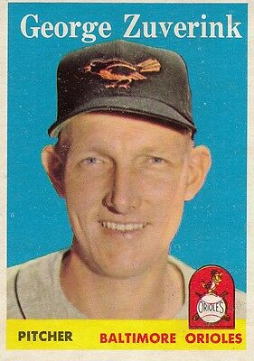 Topps 1958 #6 George Zuverink-Baltimore Orioles