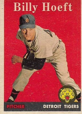 Topps 1958 #13 Billy Hoeft-Detroit Tigers
