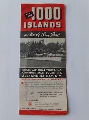 Information Brochure Flyer See The 1000 Islands On Uncle Sam Boats Tours