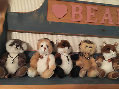 Charlie Bears Forest Friends 2015 Minimo Set 5 Hoglet Rocky Scampeteer Townend