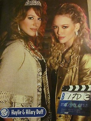 Hilary and Haylie Duff, Full Page Pinup