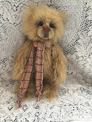"""Anniversary Mr Chips * Charlie Bears 2015 Mohair  * 11"""" Free Usa Shipping"""