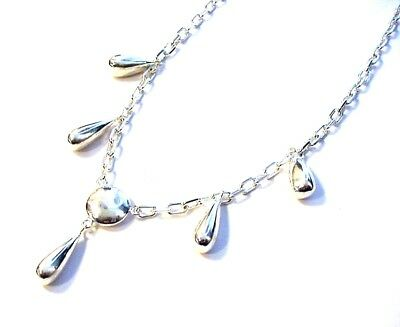 Beautiful Fancy .925 Sterling Silver Chain Necklace F11