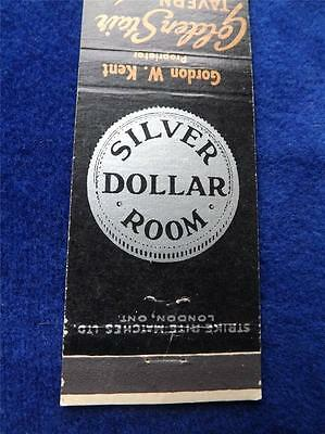 Golden Stair Tavern Silver Dollar Room London Canada Vintage Matchbook