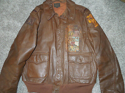 ORIGINAL WWII US 15th AAF A-2 Jacket Named 747th BS 546th Bomb Group Italian