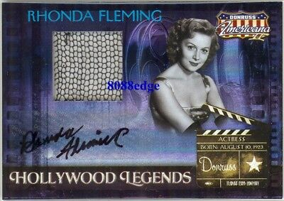 "2008 Americana Swatch Auto Relic: Rhonda Fleming #22/25 Autograph ""spellbound"""
