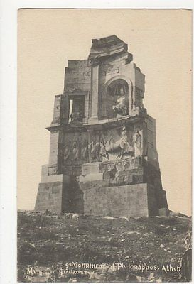 Athens Monument of Philopappos Vintage Postcard Greece 0955