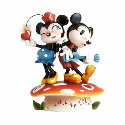Disney Porcelain Figurine Mickey And Minnie Mouse The Gay