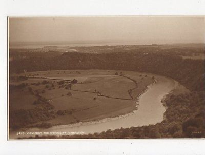 View From The Wyndcliff Chepstow Vintage Postcard 0828