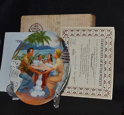 """South Pacific Collector Plate -""""dites~Moi"""" -Nib W/coa- By Elaine Gignilliat"""