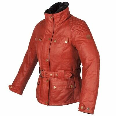 Spada Motorcycle Bike Motorbike Hartbury Rouge CE Armoured Ladies Leather Jacket