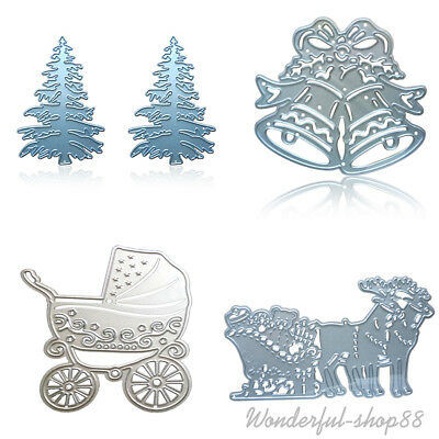 Christmas DIY Cutting Dies Stencil Scrapbooking Embossing Craft Gift Card Decor
