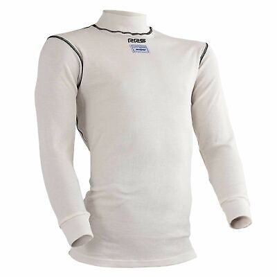 RRS Long Sleeve Nomex Fire Retardant Race / Racing / Rally Top - FIA - In White