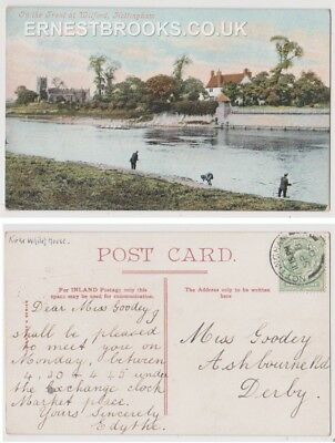 Early Postcard, Nottinghamshire,Nottingham, Wilford, On The Trent,People Fishing