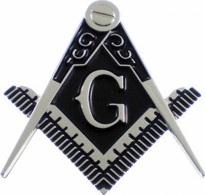 "Mason Symbol Cut-Out Car Emblem [Silver - 2.5""]"