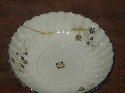 ENGLISH PEARLWARE BOWL POSSIBLY LEEDS repaired