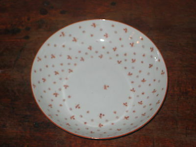 Probably New Hall Saucer Bowl Hand Painted Red Decoration