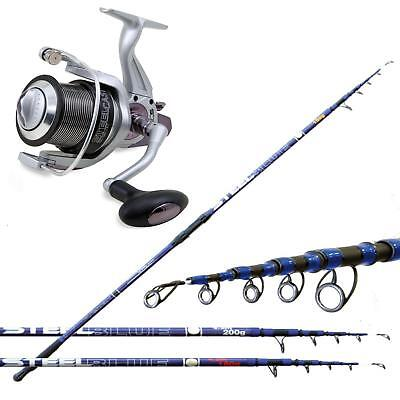 KP2815 Kit Surfcasting Canna Blue Steel 180 gr + Mulinello Beach Steel Cast RN