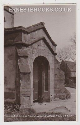 Early Postcard, Nottinghamshire, Gotham, St Lawrence`s Church, South Door, RP