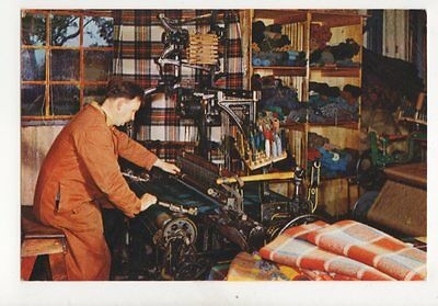 Weaving At Brora Sutherland Postcard 087b
