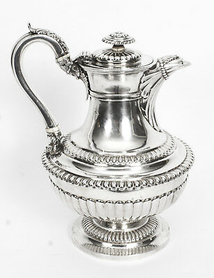 Antique Sterling Silver Ewer Jug Coffee pot  Emes & Barnard1818