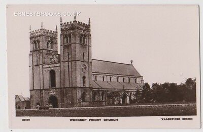 Early Postcard,Nottinghamshire, Worksop, Priory Church, Nice View, RP