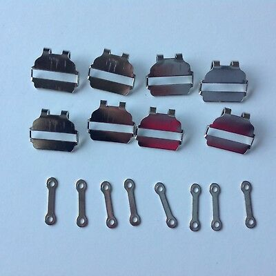 8 x NEW METAL SEWING/SMALL BAG FINDINGS HOOKS & BARS- HUGE CRAFT CLEAROUT