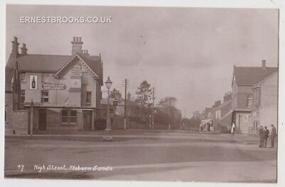 Early Postcard, Bedfordshire,Woburn Sands,High St, The Swan Hotel Old Houses.RP