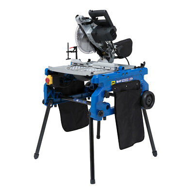 "Wolf 1800w 10"" 254mm Flip Over Table Saw 240v Compound Mitre Saw Work Bench SALE"
