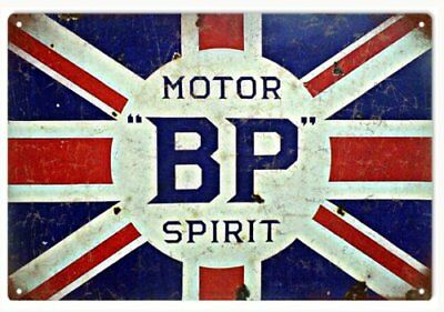 BP Motor Oil With British Flag Sign