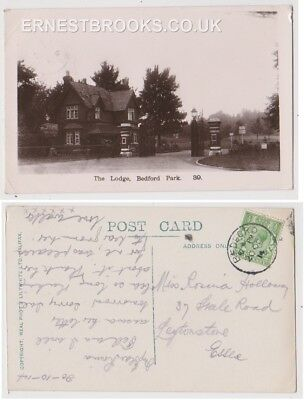 Early Postcard, Bedfordshire, Bedford,The Lodge Bedford Park, Nice View,1914,RP