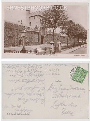 Early Postcard, Bedfordshire, Bedford,The Modern School, 1914,RP