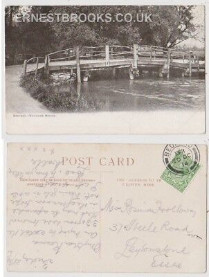 Early Postcard, Bedfordshire, Bedford, Newnham Bridge, Nice View, 1914
