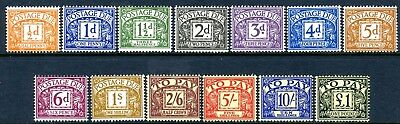 1959-63 Crowns Watermark Postage Dues Sg D56-68 UNMOUNTED MINT  V76180